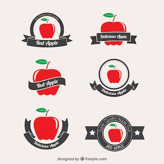 Red apple badges