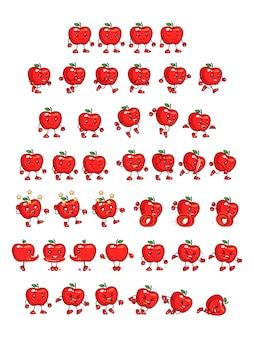 Red apple game sprites