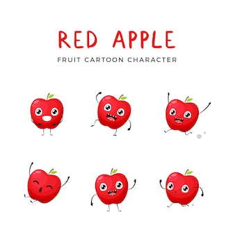 Red apple mascot collection