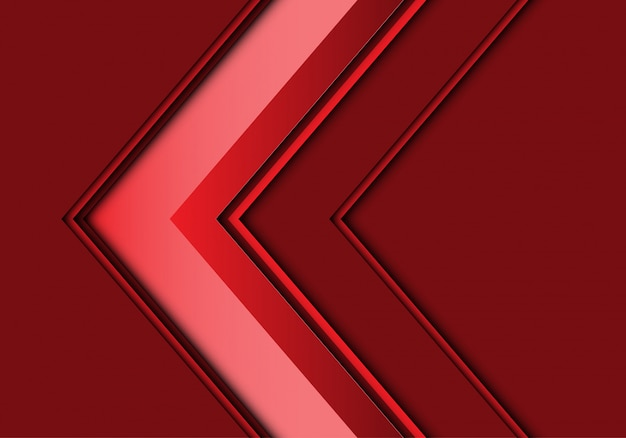 Red arrow direction design modern background.