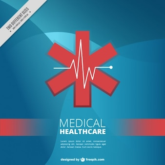 Red asterisk medical background