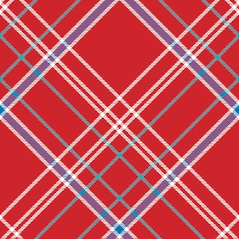 Red background check fabric texture seamless pattern