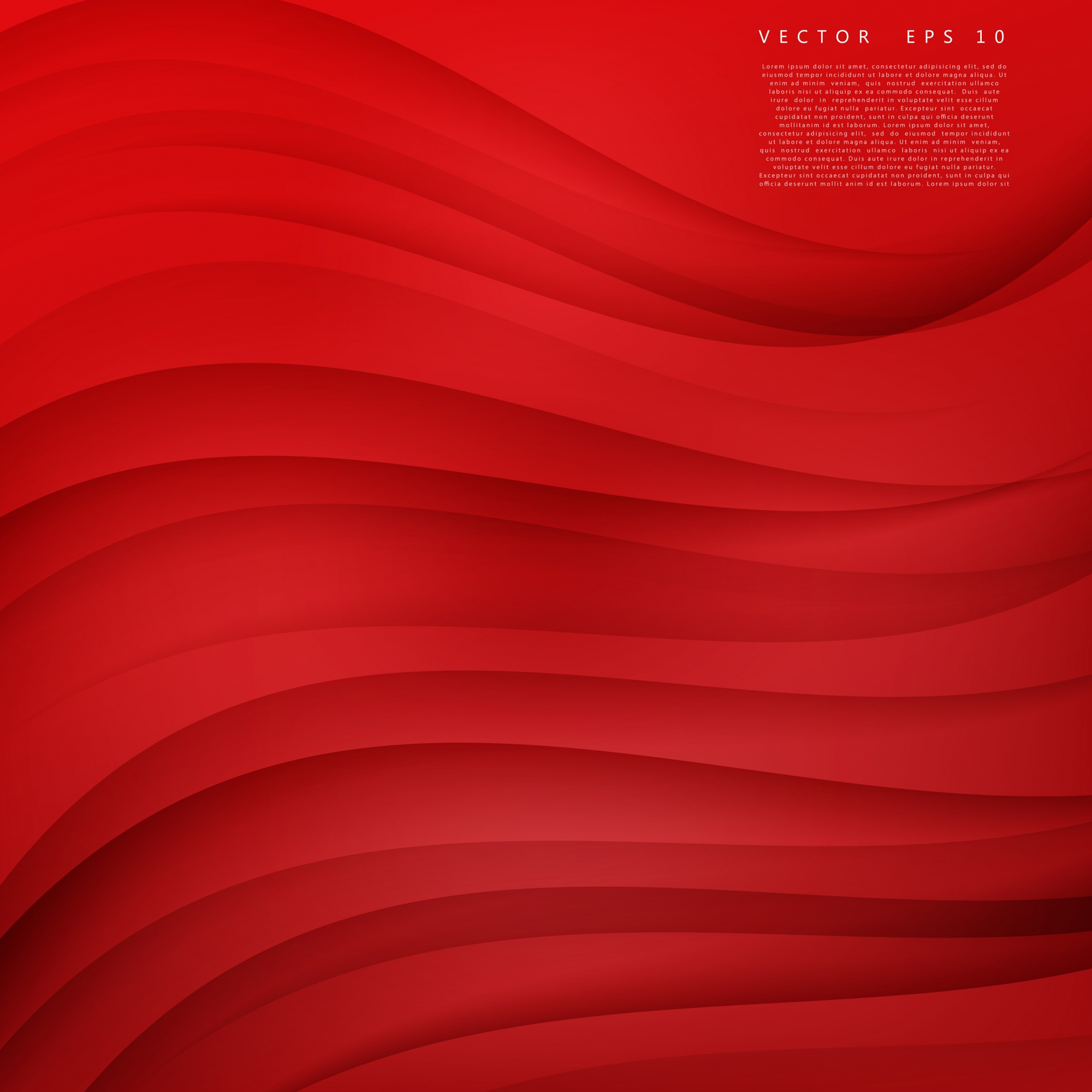 Red background curve