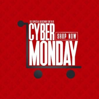 Постер cyber понедельник shopping card