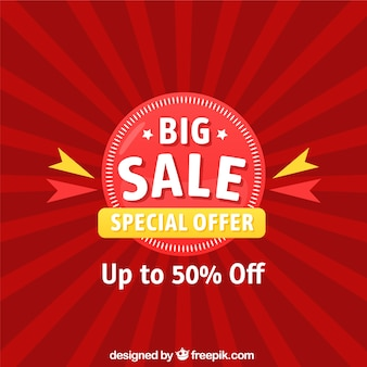 Red background for sales