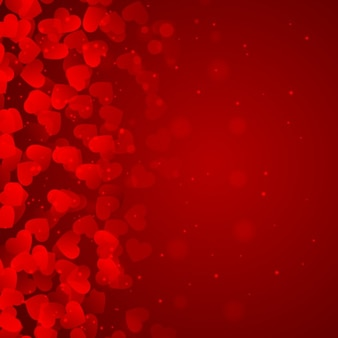 Red background of hearts