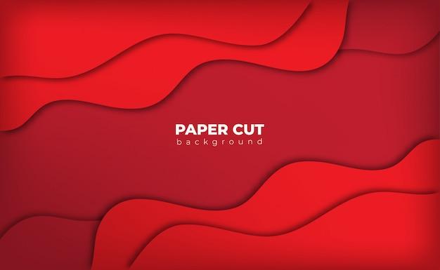 Красный фон бумаги вырезать стиль с пространством для текста