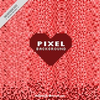 Красный фон пикселей