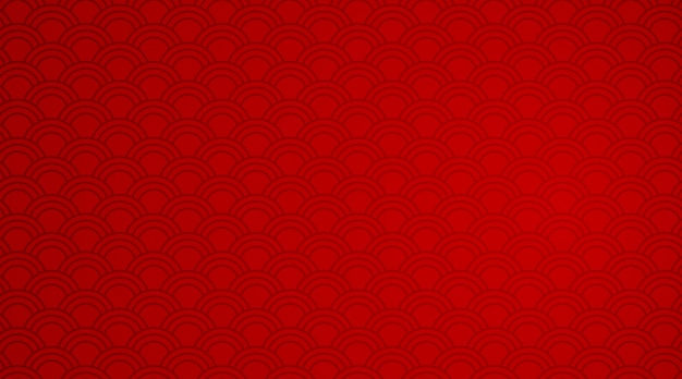 Red background template with wave patterns