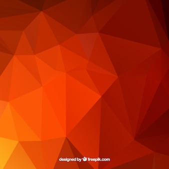 Red background with abstract shapes