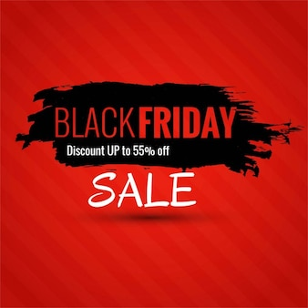 Red background with black ink for black friday