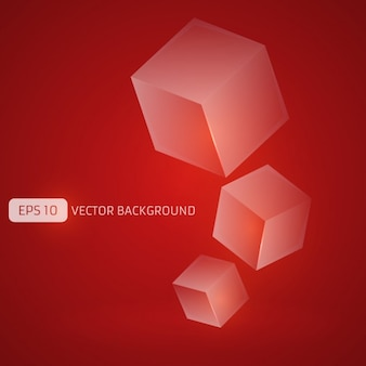 Red background with cubes