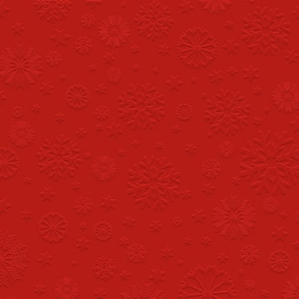 Red background with embossed snowflakes
