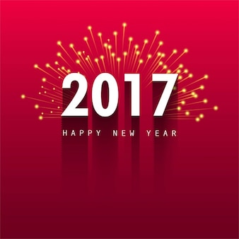Red background with fireworks for new year