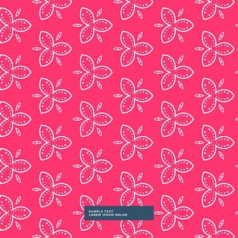 Red background with a floral pattern