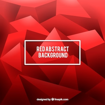 Red background with geometric shapes in abstract style