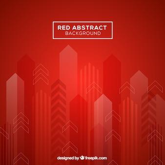 Sfondo rosso con stile geometrico