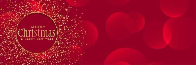 Red background with golden glitter for christmas festival