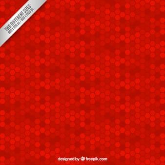 Sfondo rosso con esagoni