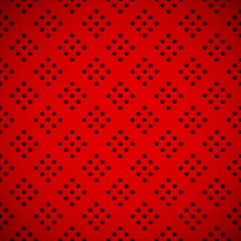 Red background with perforated pattern Premium Vector