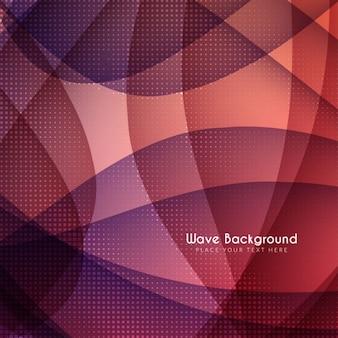 波状形状やハーフトーンドットと赤い背景