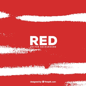 Red background with white strokes