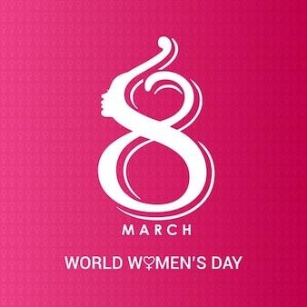 8 marzo giorno creativo donne logo