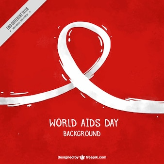 Red background of world aids day