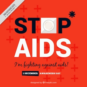 Red background of the world day against aids