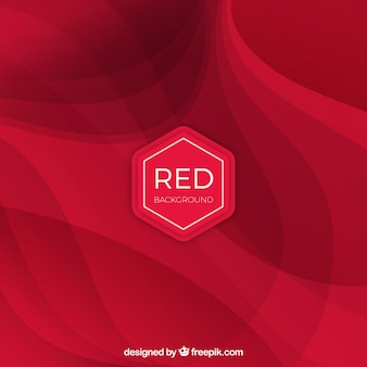 Red background wtih elegant waves