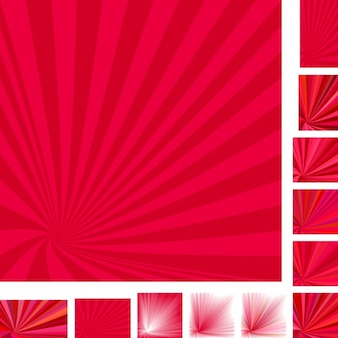 Red backgrounds with rays