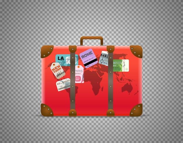 Красная сумка, изолированные на прозрачном фоне