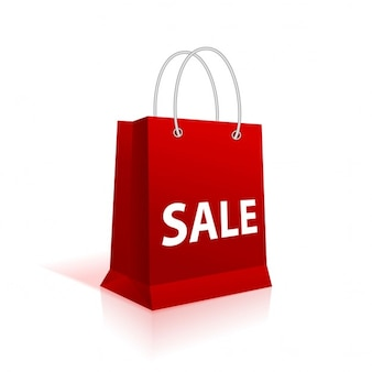 Red bag for shopping Free Vector