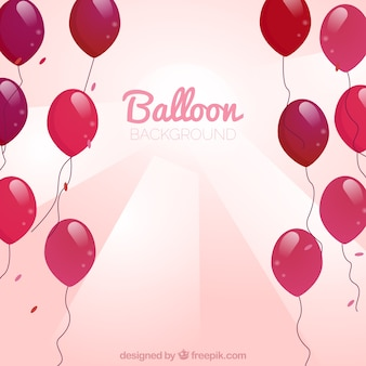 Red balloons background to celebrate