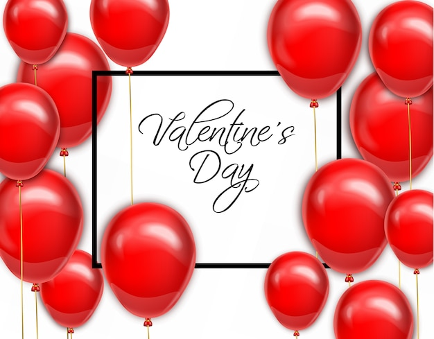 발렌타인 데이 카드에 대 한 빨간 풍선