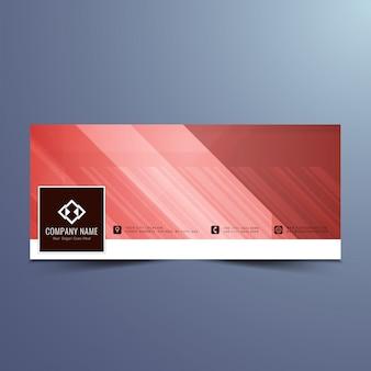 Red banner design for facebook timeline