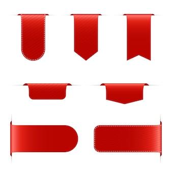 흰색 배경에 빨간색 배너 그림
