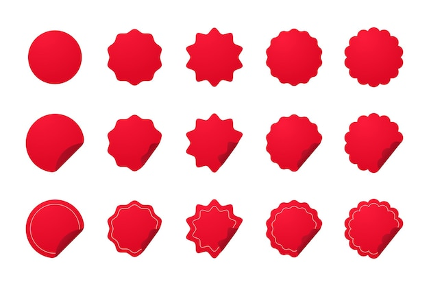 Red basic shape for new product stickers special offer label