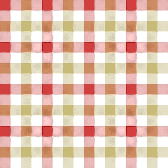 Red beige check tablecloth seamless pattern