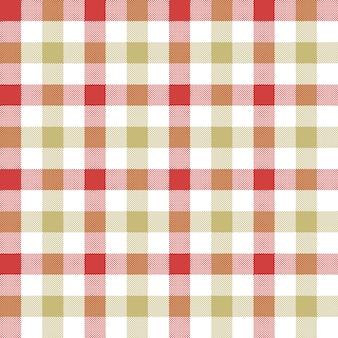 レッドベージュチェックテーブルクロスのシームレスパターン