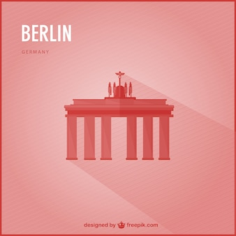 Red berlin background