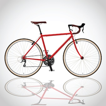 Red bicyle
