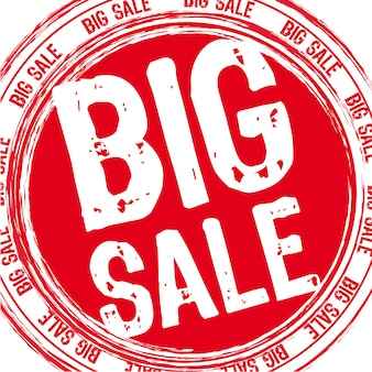 Red big sale stamp over white background vector illustration