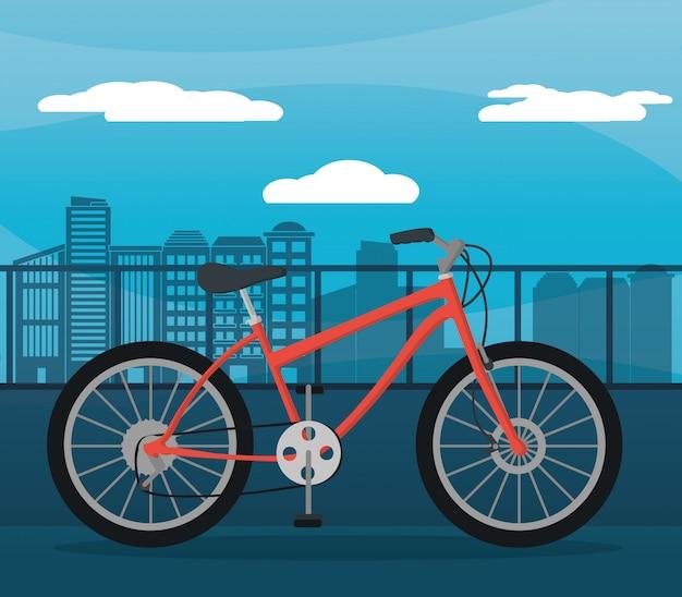 赤い自転車都市の日