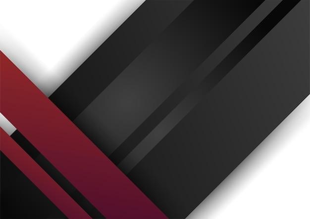白地に赤黒の抽象的な幾何学的形状。プレゼンテーションの背景、バナー、webランディングページ、ui、モバイルアプリ、編集デザイン、チラシ、バナー、およびその他の関連する機会に適しています