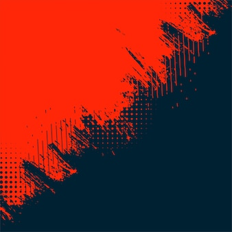 Red and black abstract grunge texture background