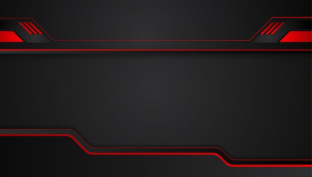 Red black abstract metallic frame layout design tech innovation background.