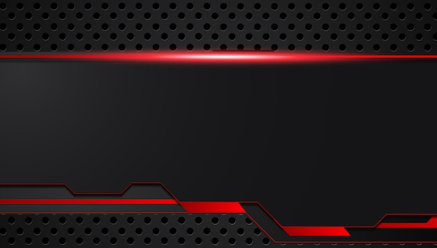 Red black abstract metallic frame layout design tech innovation concept background