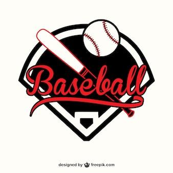 Red and black baseball logo