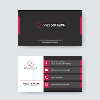 Red black business card
